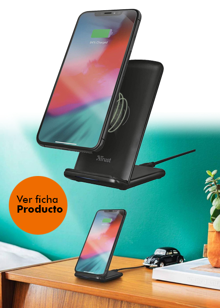 Base de carga inalámbrica trust primo 10 wireless fast-charging stand